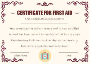 First Aid Certificate Template: 15 Free Examples And Sample With Regard To Best First Aid Certificate Template Free