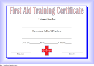 First Aid Certificate Template Free 2 | Certificate Throughout Best First Aid Certificate Template Free