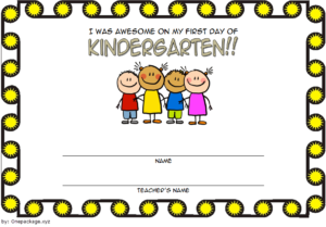 First Day Of School Certificate Printable Free 2 | School intended for Fresh First Day Of School Certificate Templates Free