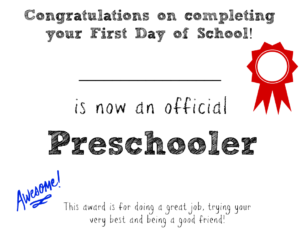 First Day Of School Printable About Me Signs | Bear Hugs And for First Day Of School Certificate Templates Free
