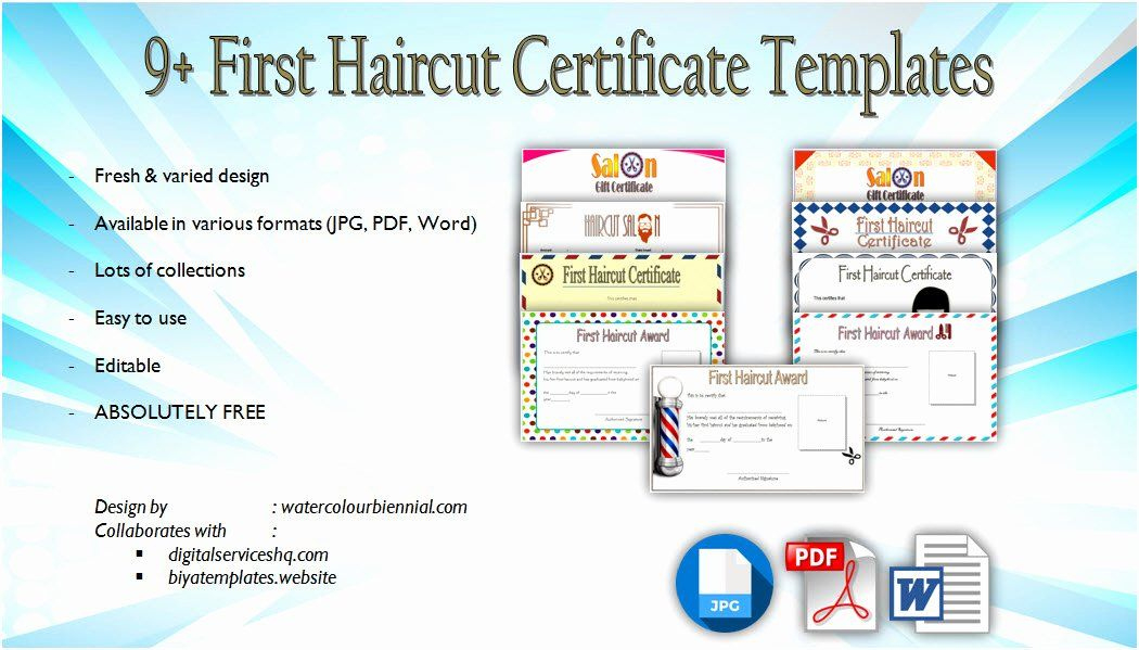 First Haircut Certificate Free Template Elegant First within First Haircut Certificate Printable Free 9 Designs