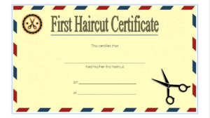 First Haircut Certificate Printable Free 2 | First Haircut for First Haircut Certificate
