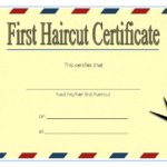 First Haircut Certificate Printable Free 2 | First Haircut Regarding Barber Shop Certificate Free Printable 2020 Designs