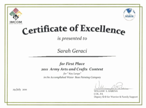 First Place Certificate Template (6) – Templates Example throughout First Place Certificate Template