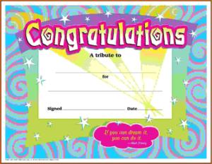 First Prize Winner Certificate Template Congratulations In throughout Best Congratulations Certificate Template 10 Awards