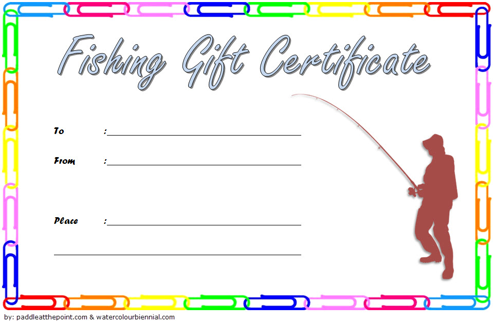 Fishing Charter Gift Certificate Free (1St Design) | Gift with Fishing Gift Certificate Template