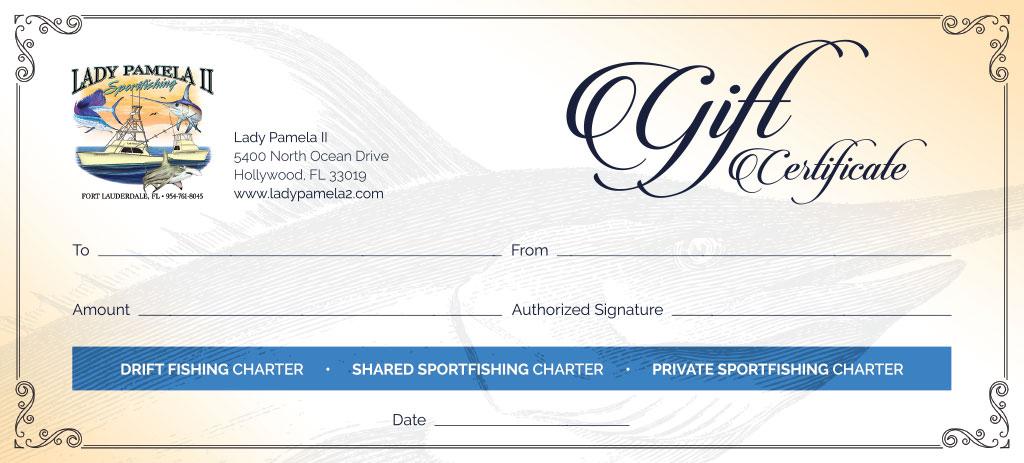 Fishing Charter Gift Certificates For Deep Sea Fishing Gift with Fishing Gift Certificate Template