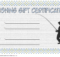 Fishing Gift Certificate Template Free (1St Design) | Gift for Fishing Gift Certificate Template