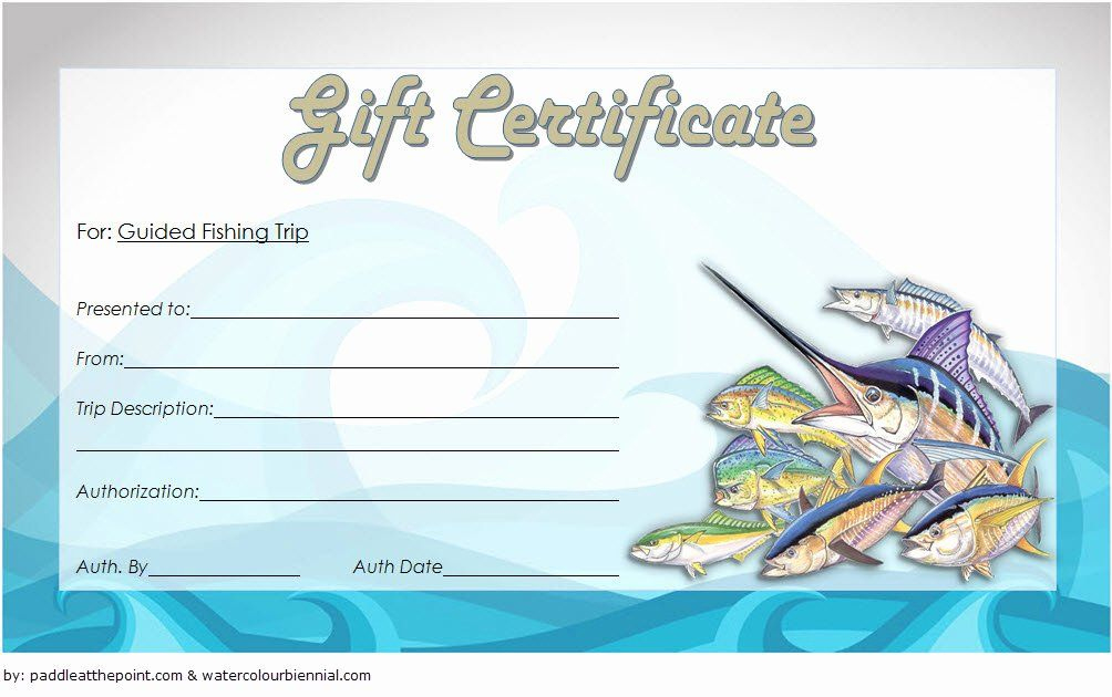 Fishing Gift Certificate Template New Fishing Gift Pertaining To Fishing Gift Certificate Editable Templates