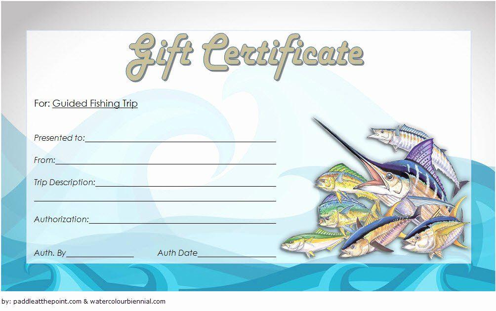 Fishing Gift Certificate Template New Fishing Gift pertaining to Fishing Gift Certificate Template