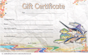 Fishing Trip Gift Certificate Template Free (1St Design for Quality Fishing Gift Certificate Template