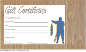 Fishing Trip Gift Certificate Template Free (3Rd Design regarding Best Fishing Gift Certificate Editable Templates