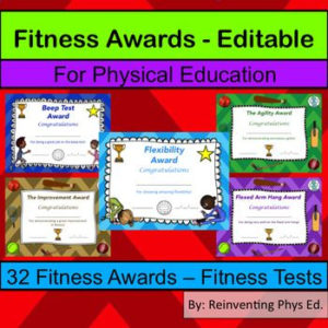 Fitness Awards – Physical Education Certificates (Editable intended for Unique Physical Education Certificate Template Editable
