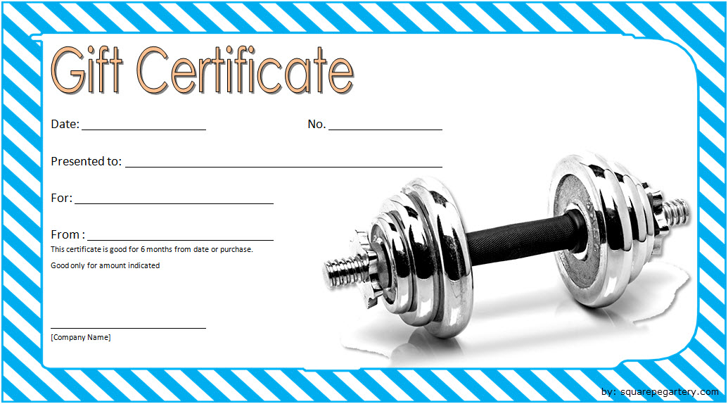 Fitness Gift Certificate Template 6 Free inside Fitness Gift Certificate Template
