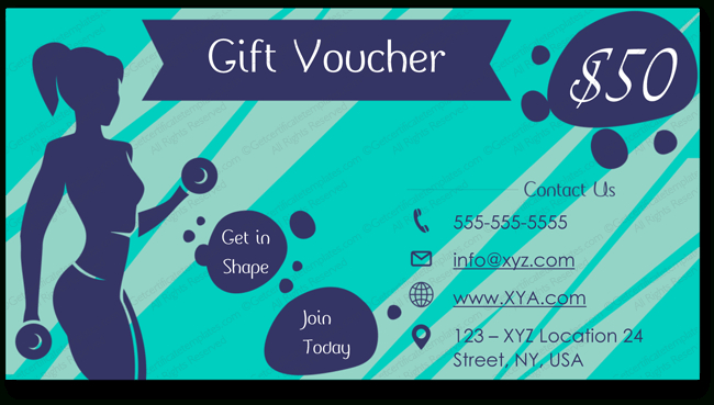 Fitness Gym Gift Certificate Template (Voucher Design within Quality Fitness Gift Certificate Template