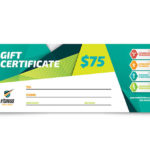 Fitness Trainer Gift Certificate Template Design Within Quality Fitness Gift Certificate Template