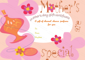 Five Petals Mother'S Day Gift Certificate Template | Gift intended for Mothers Day Gift Certificate Template