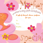 Five Petals Mother'S Day Gift Certificate Template | Gift With Regard To Mothers Day Gift Certificate Templates