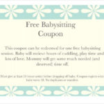 Floral Baby Sitting Coupon Template Download | Templates Throughout Babysitting Gift Certificate Template