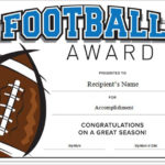Football Certificate Template Word | Certificate Templates In Youth Football Certificate Templates