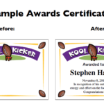 Football Certificate Templates | Youth Award Printables With New Youth Football Certificate Templates