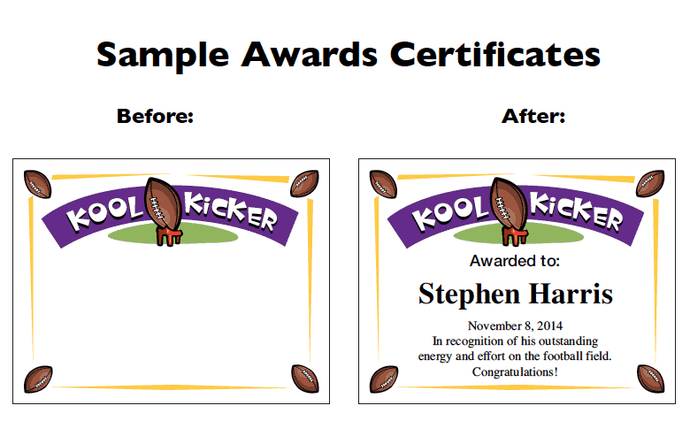 Football Certificate Templates   Youth Award Printables with New Youth Football Certificate Templates