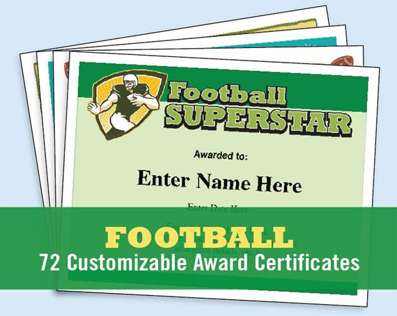 Football Certificates Templates, Youth Football, Kid Certificates,  Certificate Templates, Football Mom, Football Certificate, Football Award for New Youth Football Certificate Templates