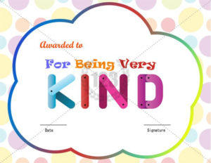 For Being Kind Award Certificate Template Download Free with Fresh Kindness Certificate Template Free