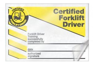 Forklift Certification Cards | Certificate Templates, Card in Forklift Certification Card Template