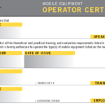 Forklift License Template Wallet Size – Nextinvitation Inside Forklift Certification Card Template