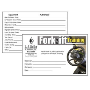 Forklift Training – Wallet Cards Pertaining To Best Forklift Certification Template