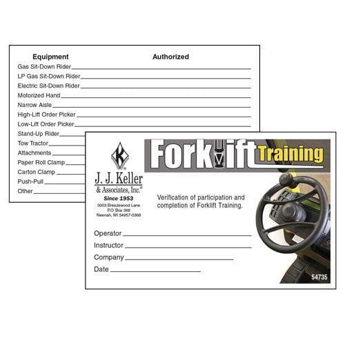 Forklift Training - Wallet Cards pertaining to Best Forklift Certification Template