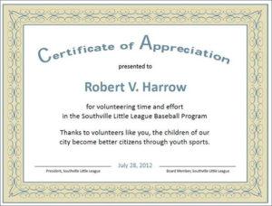 Formal Certificate Of Appreciation Template | Certificate Of regarding Best Formal Certificate Of Appreciation Template