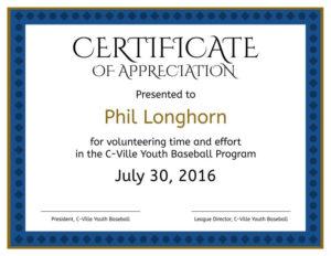 Formal Certificate Of Appreciation Templates for Formal Certificate Of Appreciation Template