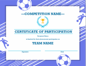 Four Sports Awards Certificate within Fresh Athletic Certificate Template