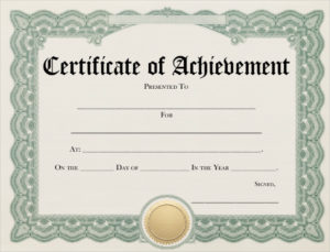 Free 10+ Examples Of Certificate Of Achievement In Publisher throughout Blank Certificate Of Achievement Template