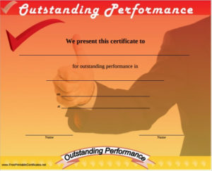 Free 11+ Sample Performance Certificate Templates In Pdf intended for Outstanding Performance Certificate Template