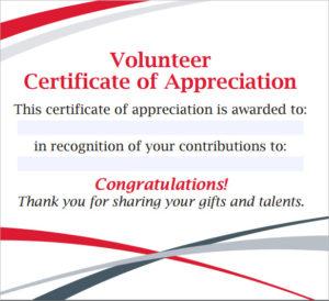 Free 11+ Sample Volunteer Certificate Templates In Pdf   Psd regarding Fresh Volunteer Certificate Templates