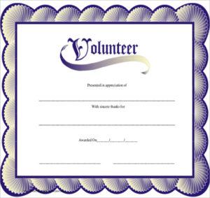 Free 11+ Sample Volunteer Certificate Templates In Pdf | Psd with Volunteer Of The Year Certificate 10 Best Awards