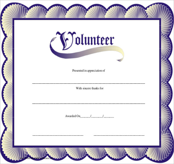 Free 11+ Sample Volunteer Certificate Templates In Pdf | Psd with Volunteer Of The Year Certificate 10 Best Awards