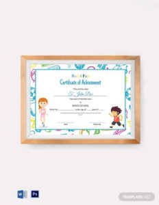 Free 13+ Certificate Templates For Kids In Psd | Ms Word throughout New Certificate Of Achievement Template For Kids