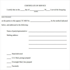 Free 14+ Certificate Of Service Templates In Pdf | Ms Word within Certificate Of Service Template Free