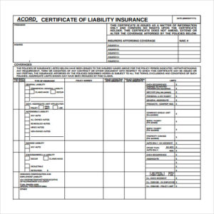 Free 15+ Certificate Of Insurance Templates In Pdf | Ms Word for Quality Acord Insurance Certificate Template
