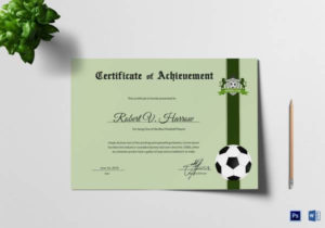 Free 15+ Sample Football Certificate Templates In Pdf | Psd Intended For Quality Best Coach Certificate Template Free 9 Designs