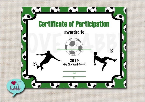 Free 15+ Sample Football Certificate Templates In Pdf | Psd throughout New Youth Football Certificate Templates