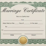 Free 16+ Marriage Certificate Templates In Word | Psd For Blank Marriage Certificate Template