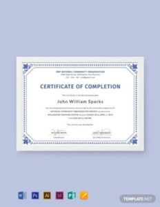 Free 16+ Project Completion Certificate Samples In Ms Word pertaining to Certificate Template For Project Completion