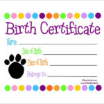 Free 17+ Birth Certificate Templates In Ai   Indesign   Ms In Cat Birth Certificate Free Printable