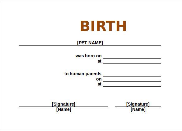 Free 17+ Birth Certificate Templates In Ai | Indesign | Ms throughout Pet Birth Certificate Template