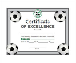 Free 17+ Soccer Certificate Templates In Psd | Ai | Indesign for New Soccer Achievement Certificate Template